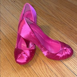 Shoes - Hot Pink Satin Shoes